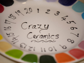 Crazy Ceramics Colour Guide Plate